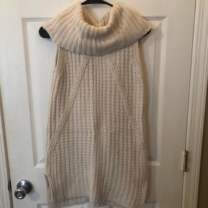 Banana Republic Cream Turtleneck Knit Tank